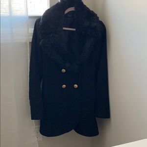 French Connection Fur Collar Coat